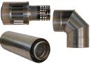 Коаксиальный дымоход для газовых каминов Karma NOBLESSE D130/200 1000 мм в Санкт-Петербурге (СПб)