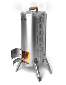 Портативная дровяная печь Термофор Дуплет 2 Коптильня